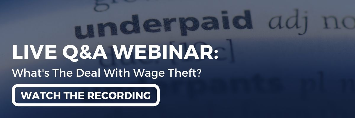 """Watch the webinar recording: """"A Live Q&A With Employment Hero & EI Legal... What's The Deal With Wage Theft featuring Simon Obee & Aahana Lakhia!"""""""